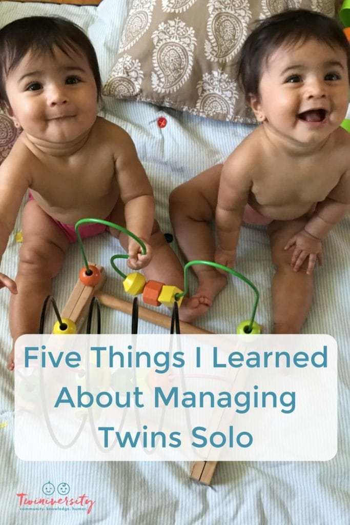 managing twins solo