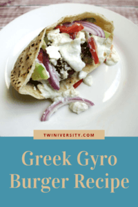 Greek Gyro Burger Recipe