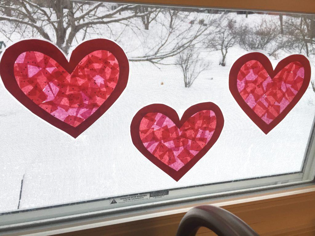 heart suncatchers Valentine's Day Decorations