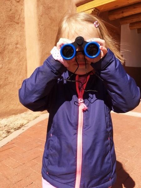 girl with binoculars teachable moments