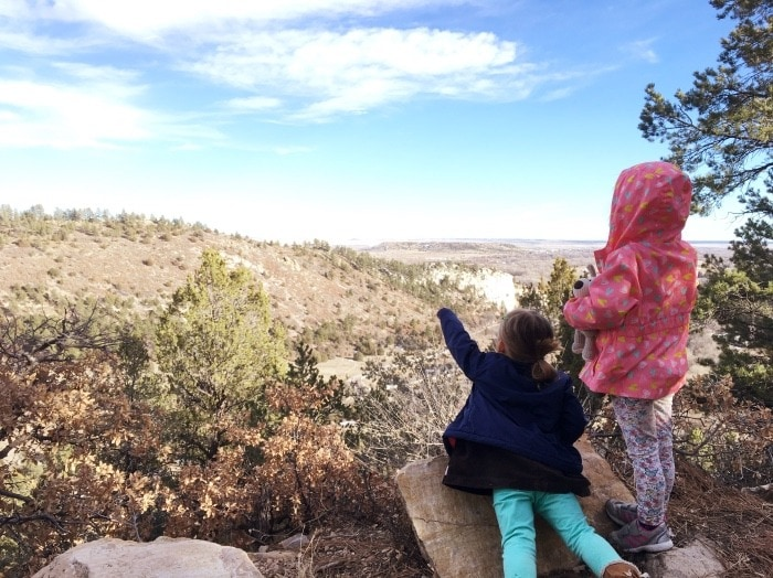 girls looking over hill teachable moments