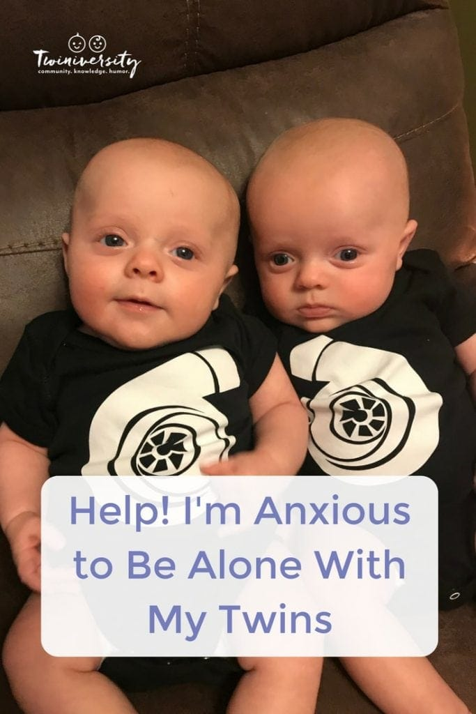 alone with my twins