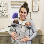 mom with newborn twins double-whammy twin
