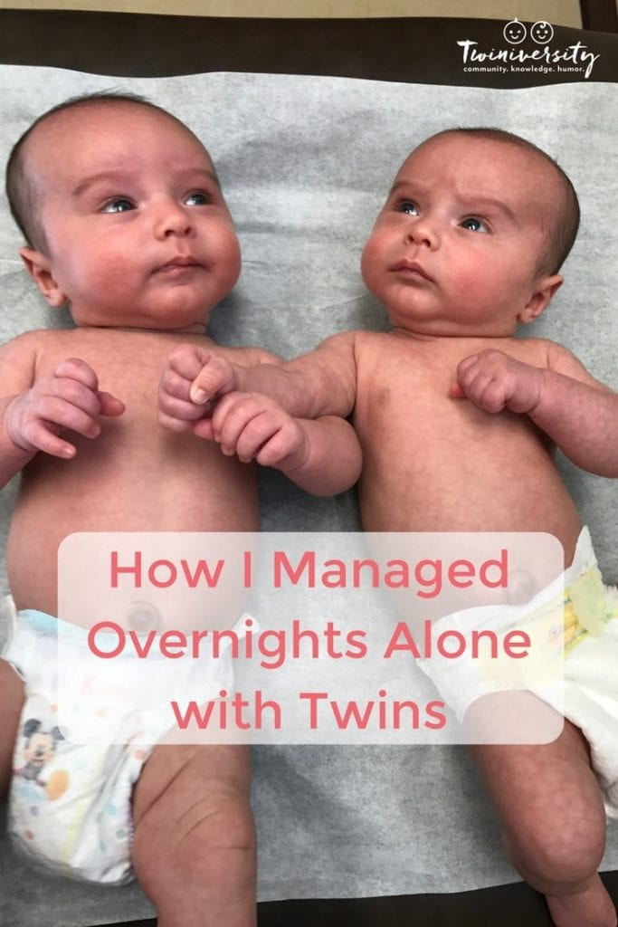 Overnights alone with twins