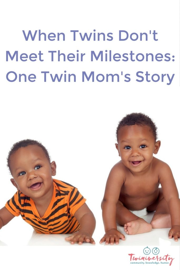 When Twins Don't Meet Their Milestones: One Twin Mom's Story
