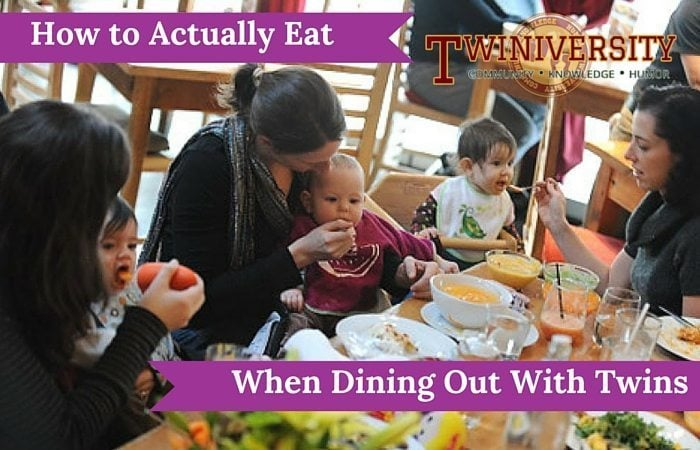 How to Actually Eat When Dining Out With Twins