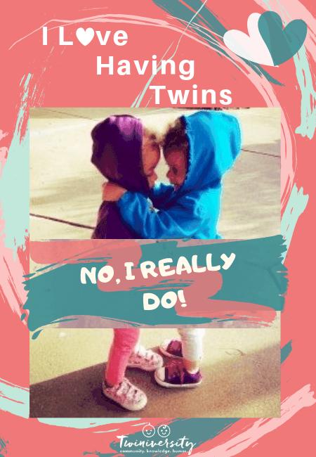 I love having twins. No, I really do.