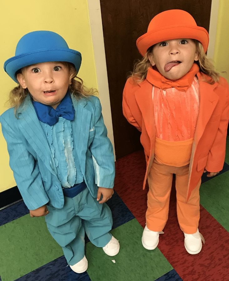 twin boys dressed as the characters from dumb and dumber