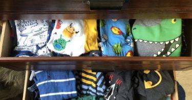 dresser of kids clothes dressing multiples