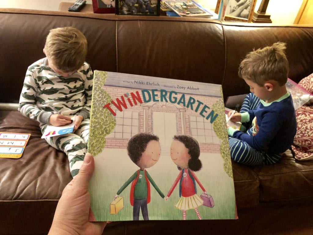 twindergarten book separate my twins in school