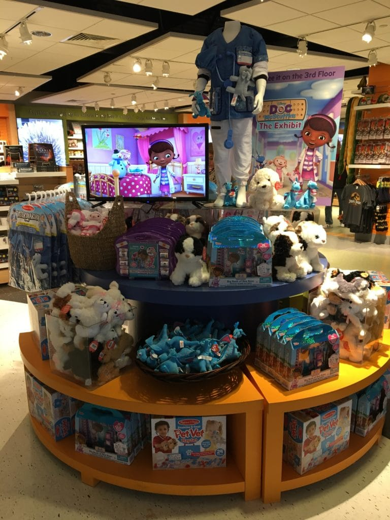 Doc McStuffins Goodies in the Liberty Science Center Gift Shop
