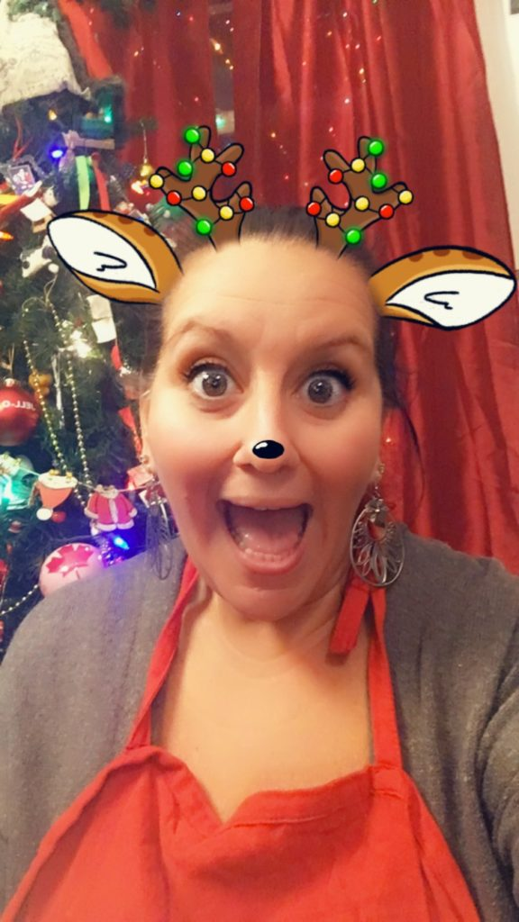 Nat with a Reindeer filter