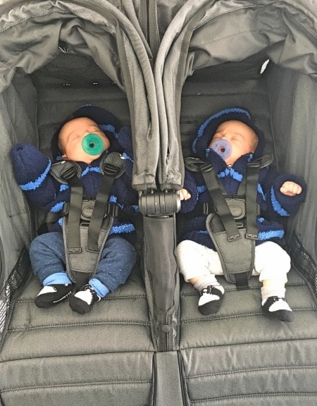 baby twins in a stroller baby registry for multiples