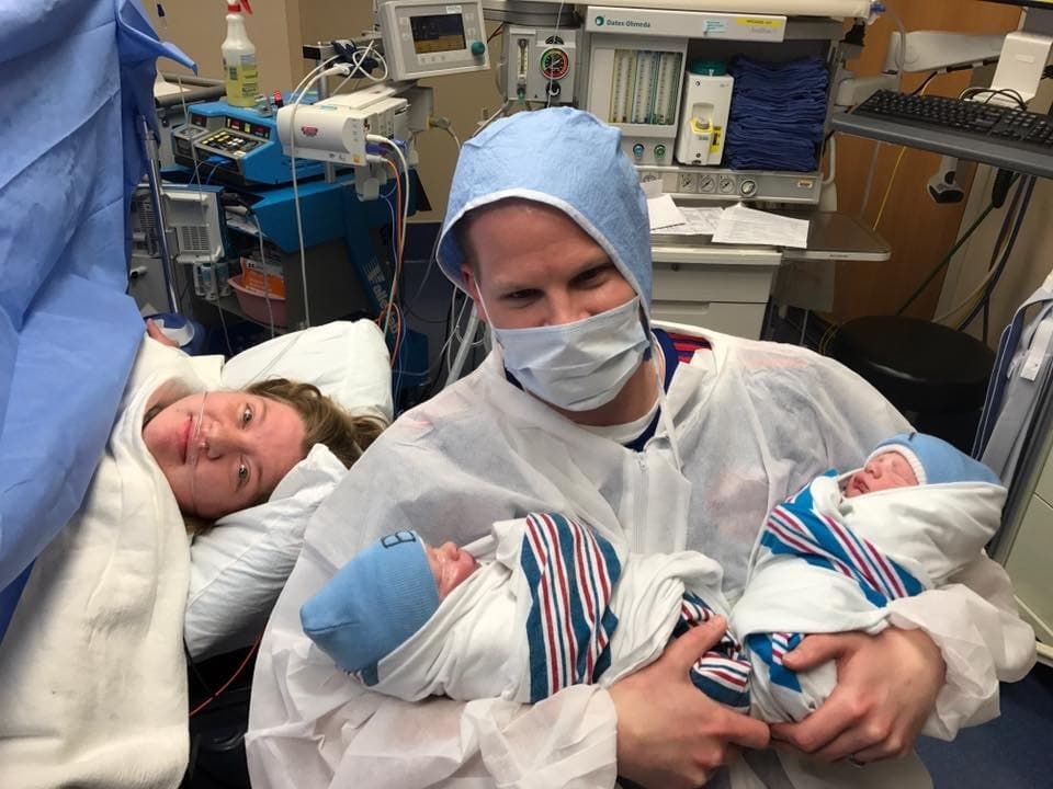 c-section with twins bonding with my newborn twins