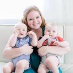 mom with twins bonding with my newborn twins