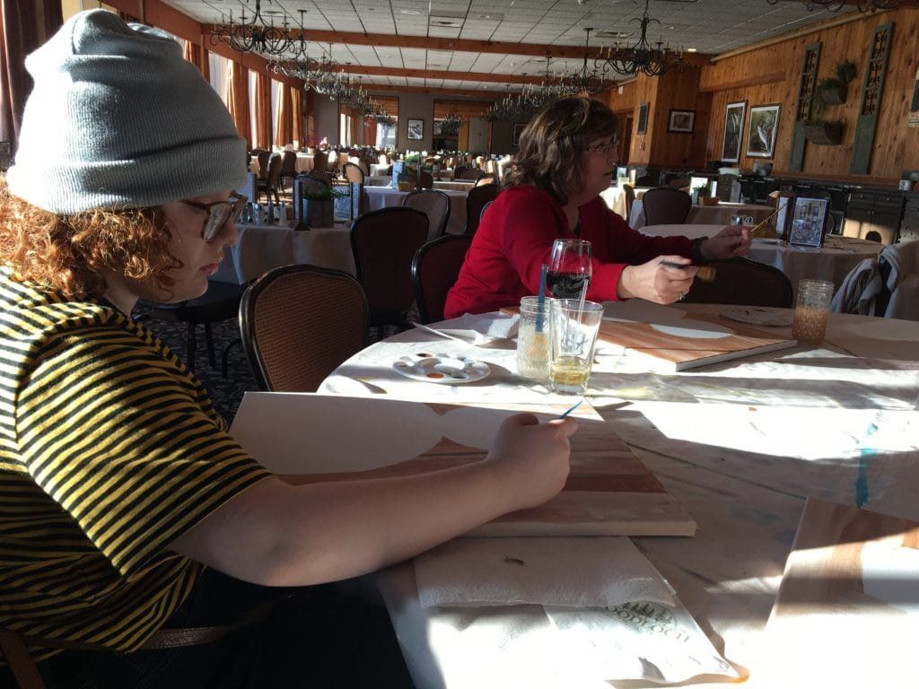 Paint and Sip at Woodloch Resort