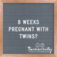 8 Weeks Pregnant with Twins