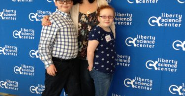 Nat and the twins at the liberty science center