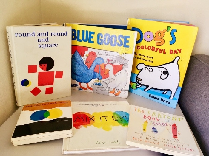 teach kids about color little blue and little yellow book