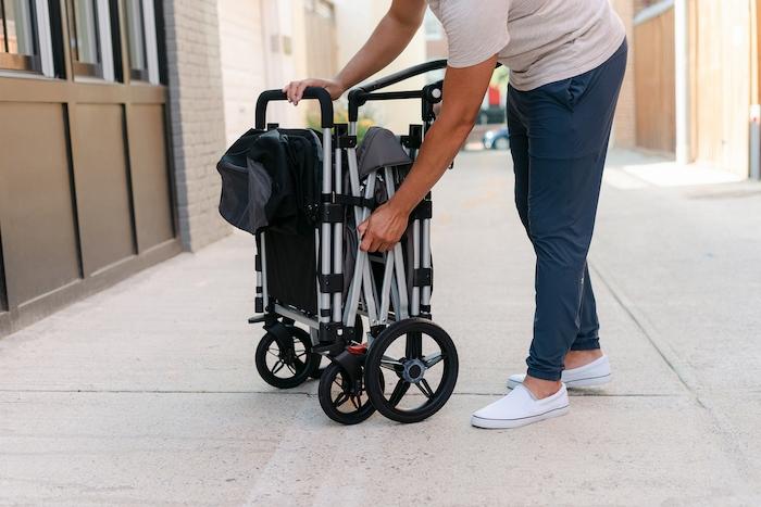 day trips with kids folded larktale caravan stroller wagon