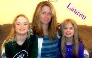 Lauren with Emily & Abigail!