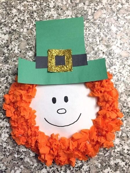 leprechaun paper plate St. Patrick's Day Decorations