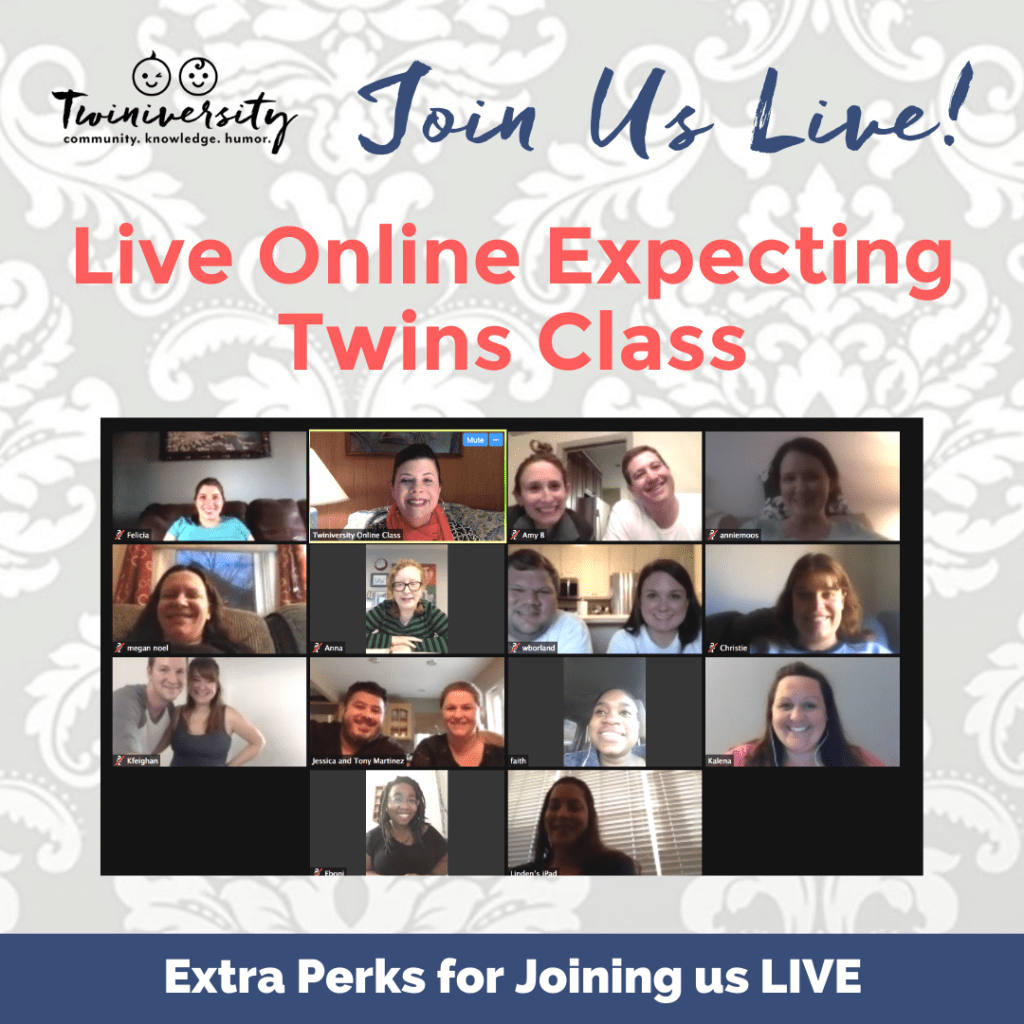 live online expecting twins class