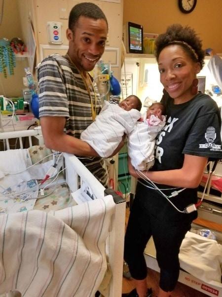 parents holding preemies Pregnancy Ended at 24 Weeks
