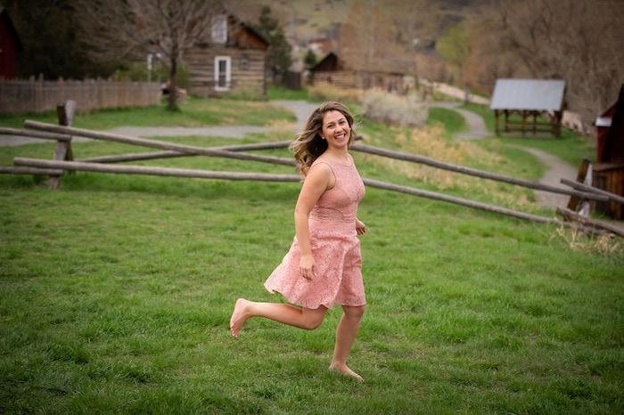 woman running celebrate you
