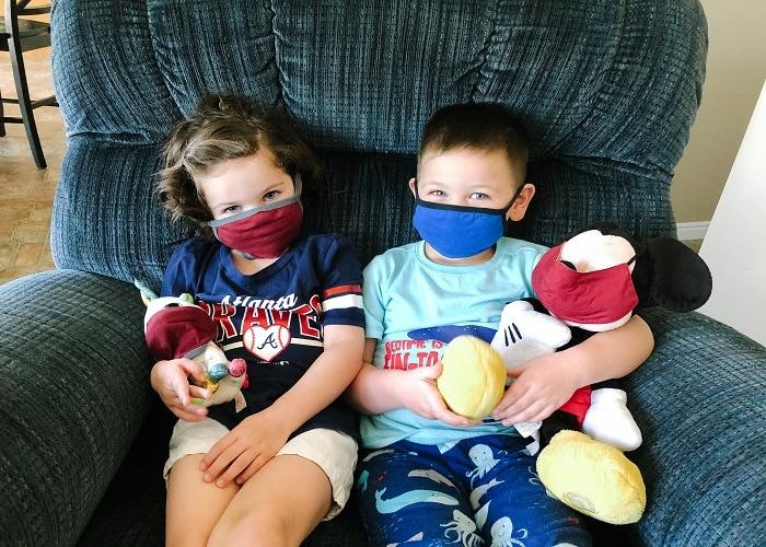 Kids wear masks