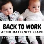 twin babies on couch maternity leave