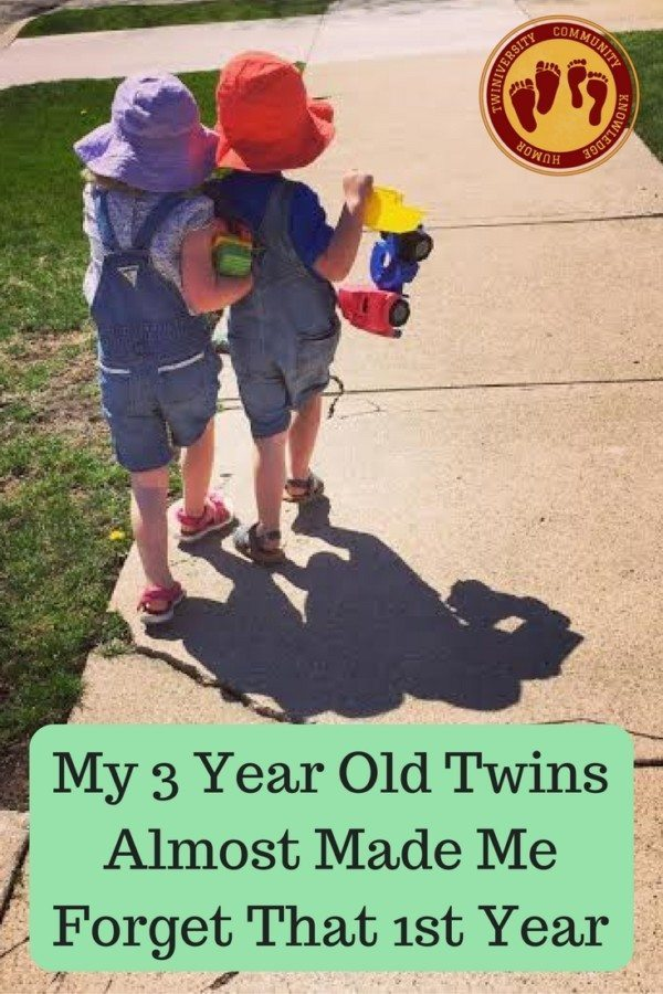 My 3 Year Old Twins Have Almost Made Me Forget That 1st Year