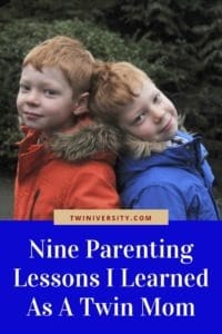 Nine Parenting Lessons I Learned As A Twin Mom