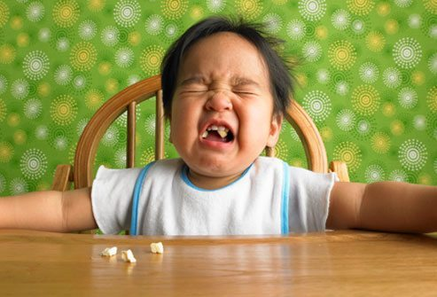 baby crying while eating at table occupational therapy