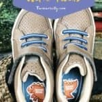 kids shoes with name labels inside
