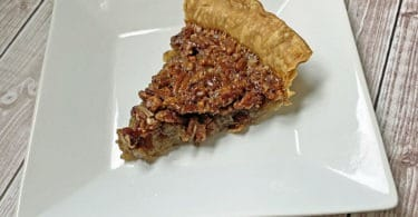 pecan pie on a plate