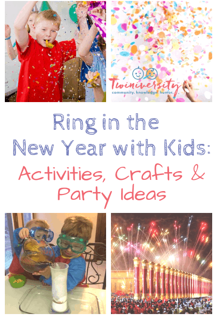 New Year with Kids collage pinterest