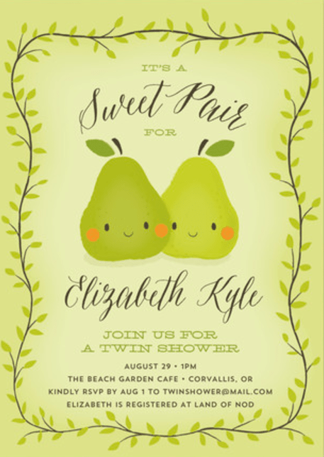 The Best Twins Baby Shower Invites