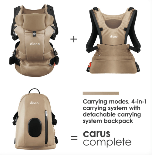diono carus complete carrier babywearing