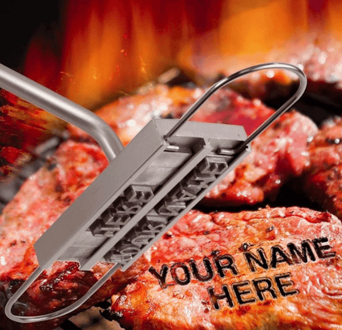 meat branding iron father's day gifts