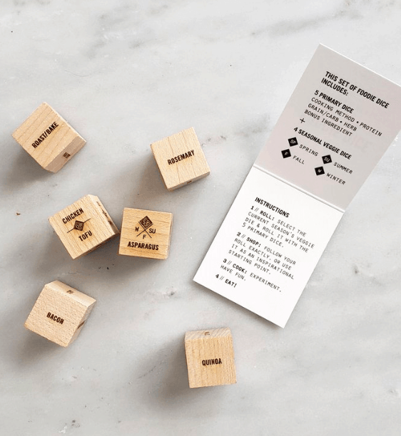 foodie dice father's day gifts