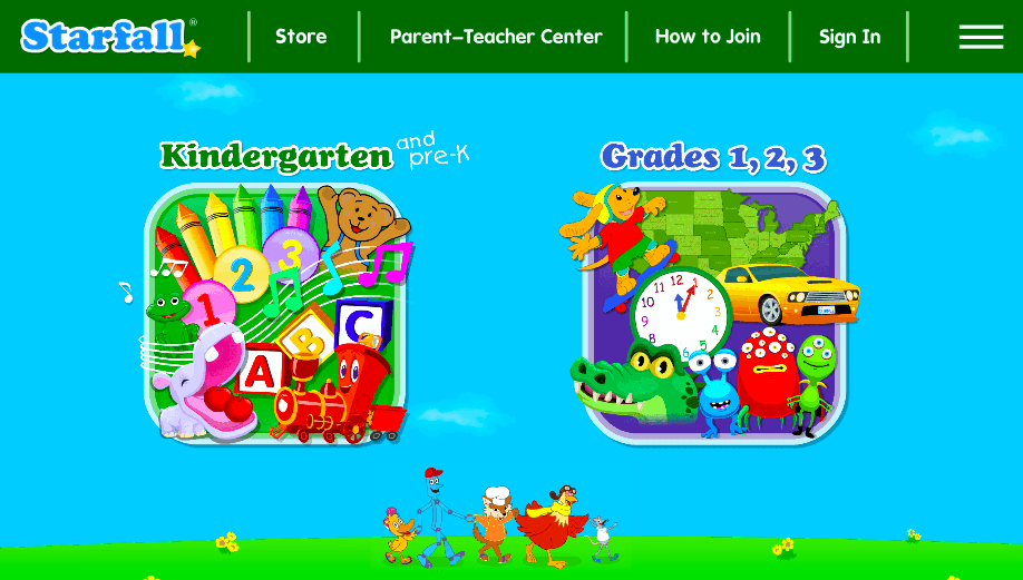 starfall free kids educational sites