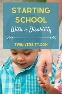 Starting School with a Disability