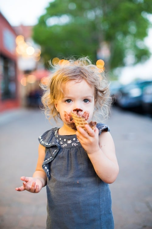 toddler girl eating ice cream twin toddlers
