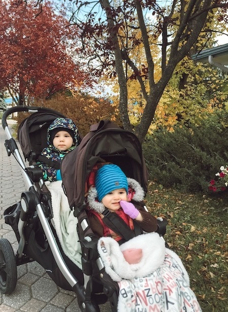 twin toddlers in stroller Twin Mom Life
