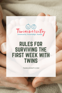 Rules For Surviving The First Week With Twins