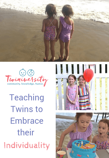 collage of twin girls 5 year olds embrace their individuality