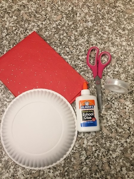 tissue paper heart Valentine's Day Decorations