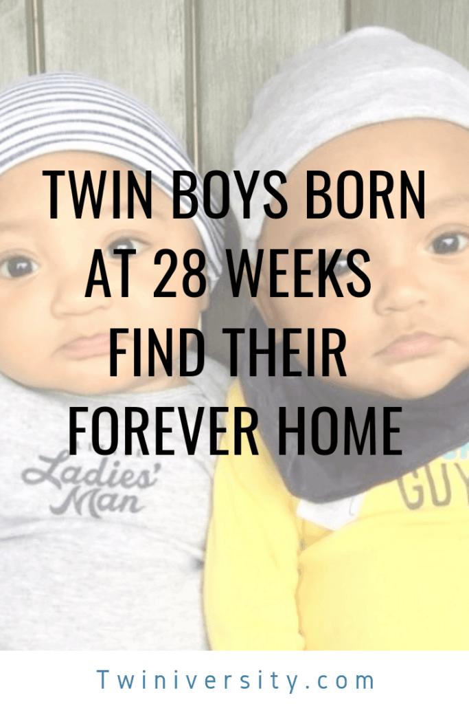 twin boys born at 28 weeks
