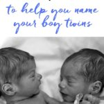 Twin Boys Names
